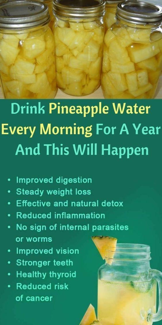 Trinken Sie jeden Morgen Ananaswasser und diese 10…