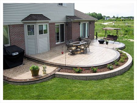 Backyard Concrete Patio Ideas beautiful colors stained concrete patio design ideas landscaping Find This Pin And More On Home Stuff Photos Videos Slideshows Of Stamped Concrete Patio Designs