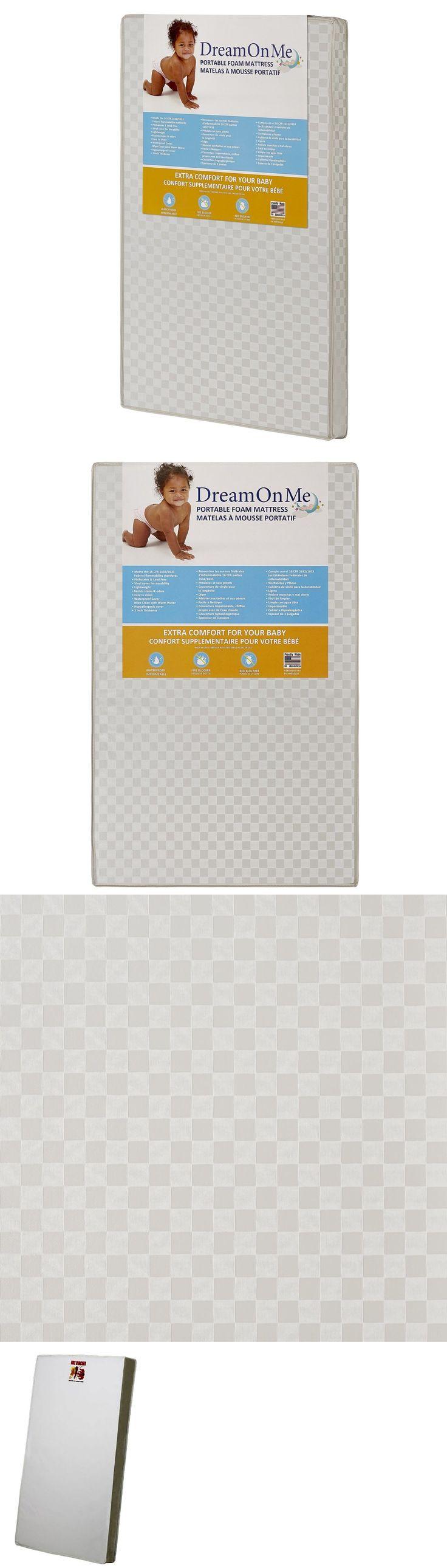 Crib Mattresses 117035 Portable Mattress 24 X 38 Waterproof Cover Antibacterial White
