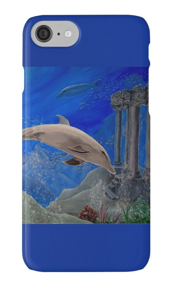 IPhone Case,  aqua,blue,cool,beautiful,fancy,unique,trendy,artistic,awesome,fahionable,unusual,accessories,for sale,design,items,products,gifts,presents,ideas,dolphin,ocean,wildlife,redbubble