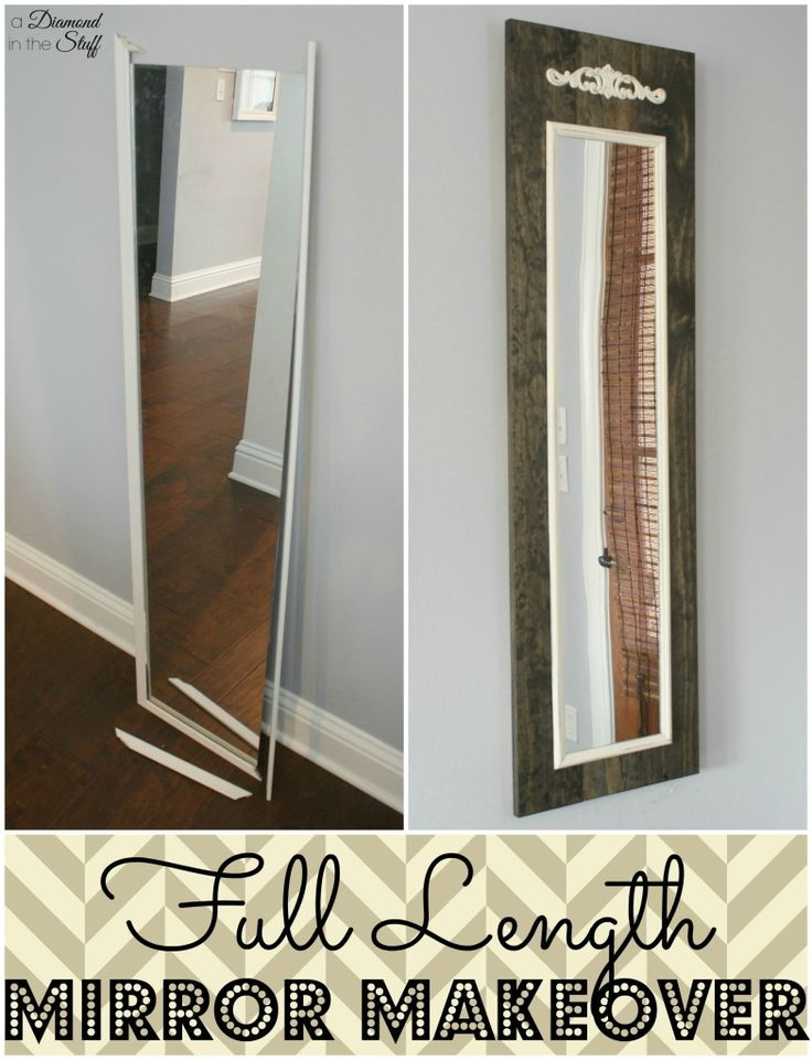 How to make a cheap falling apart mirror into a beautiful statement piece!!! Full Length Mirror Makeover....