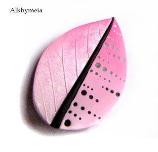 Tutorial Pink Leaf, a polymer clay tutorial by Alkhymeia