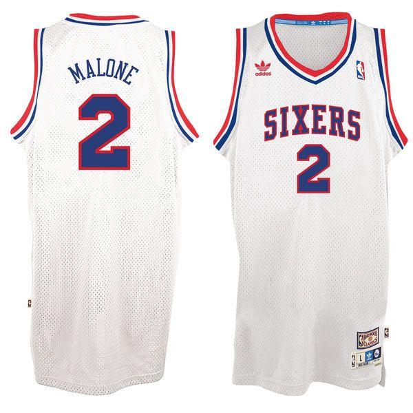 354bad3c729 Mitchell   Ness Moses Malone Philadelphia 76ers 1993-94 Hardwood ...