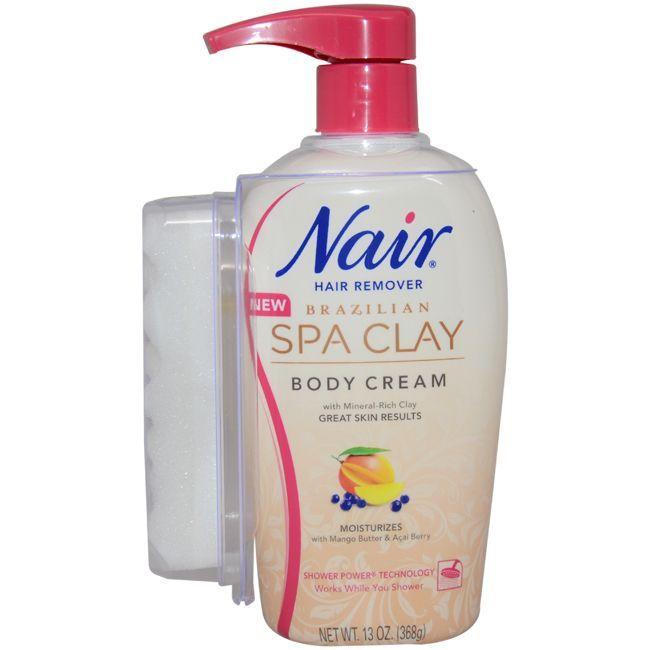 Nair Brazilian Spa Clay 13-ounce Body Cream (Ivory) (1), Size 10.1 - 15 Oz.