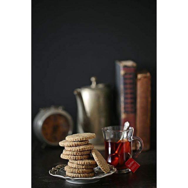 Buckwheat Tea Shortbread Cookies ... how better to celebrate national cookie day! Simple, crisp, indulgent, buttery shortbread with buckwheat flour and Assam tea, need I say more?  #makehalfyourgrainswhole #cookies #foodgram #baking #wholegrain #foodstyling #PAB #christmas #thebakefeed #moodfood #buckwheat #foodandrustic #foodphotography #comfortfood #cleaneating #delicious #healthy #foodstagram #sharegoodness #shortbread #christmasiscoming #simplelife #Assamtea #tea #nationalcookieday