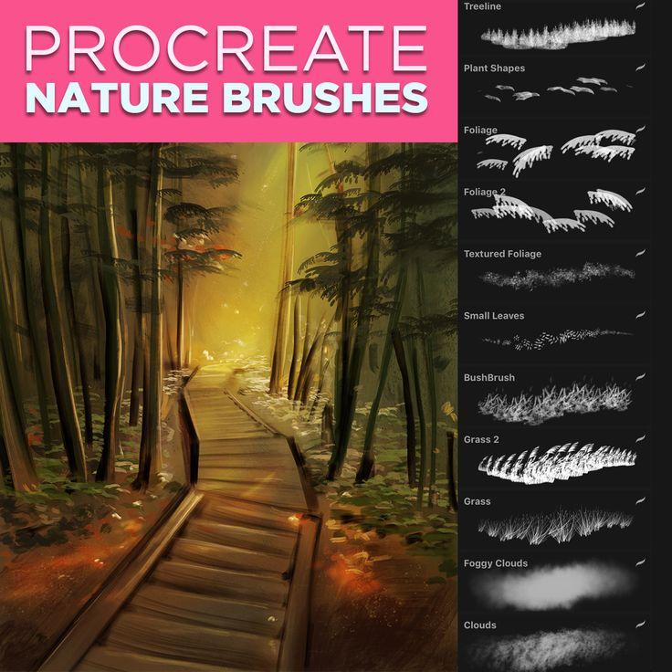 Nature Brushes For Procreate Procreate Brushes Procreate Procreate Brushes Free