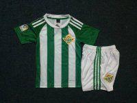 Kids Real Betis Home 16-17 Season Soccer Kit (Shorts+Shirt)