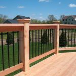 rebar railing ideas deck traditional with cedar minneapolis fence contractors