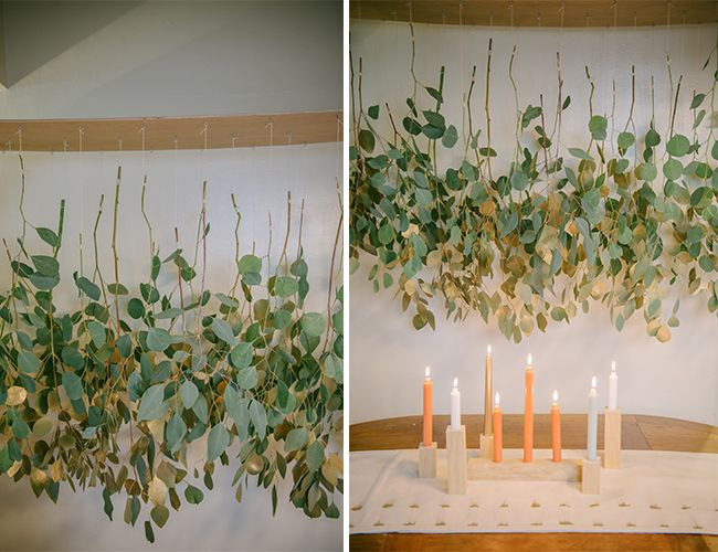 Diy Eucalyptus Chandelier From Gather Events The Natural