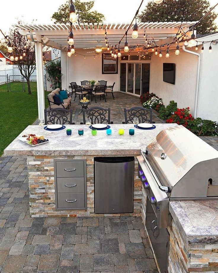 40 Ideas For Highly Functional Traditional Outdoor Kitchens 14 Gentileforda Com Diy Outdoor Kitchen Outdoor Kitchen Decor Backyard Kitchen
