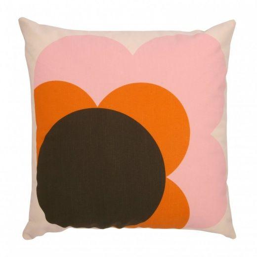 Orla Kiely House Big Spot Shadow Flower Nutmeg Cushion