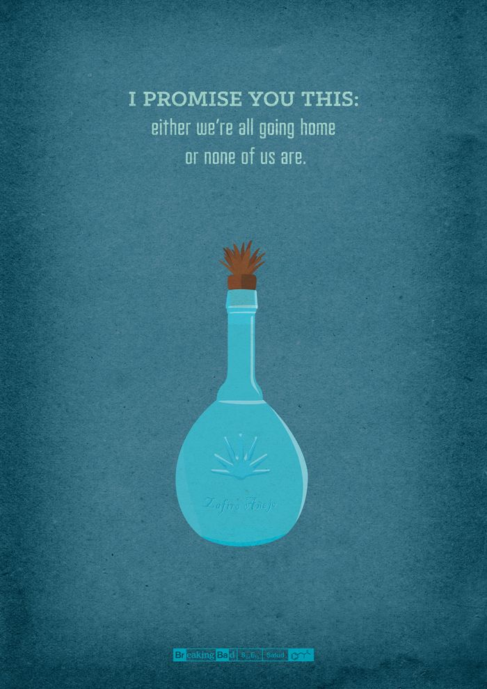"""A Designer Created These Amazing """"Breaking Bad"""" Posters For Every Episode Of The Show  S04/E10 - Salud"""