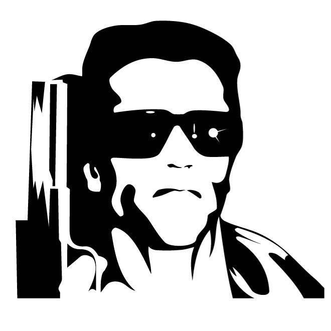 Actor Arnold Schwarzenegger Actor Arnold Schwarzenegger Actor Arnold Schwarzenegger Automaticgaragedoors Clopaygara Silhouette Art Silhouette Stencil Art