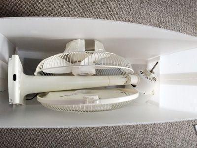扇風機の収納