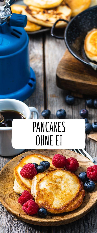 #ohne #Pancakes       Pancakes ohne Ei Dieses Rezept ist perfekt fürs Frühstü…
