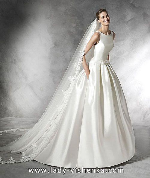 Satin brautkleider mit Taschen 2016 Foto — Pronovias  Alle Brautkleider http://de.lady-vishenka.com/satin-wedding-dress-2016/