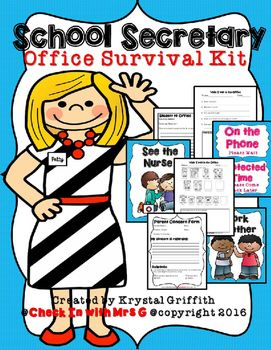 Tools+to+help+your+favorite+School+Secretary+manage+the+office!+This+Office+Survival+Kit+includes:+*+Parent+Concern+Form+Pg.+3*+Student+Observation+Form+Pg.+4*+While+I+am+Waiting+in+the+Office+K-2+Pg.+5*+While+I+am+Waiting+in+the+Office+3-6+Pg.+6+*+Student+to+the+Office+Form+Pg.+7+*+Teacher+Supply+Request+Pg.+8*+Message+From+the+Secretary+Visuals+Pgs.+9-16*+Office+Behavior+Expectations+Visuals+Pgs.+17-23*+Terms+of+Use+&+Credits+Pg.+24+