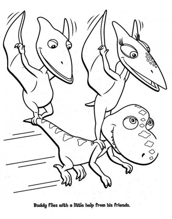 Dinosaur Train Coloring Pages For Kids Picture 8 550x700