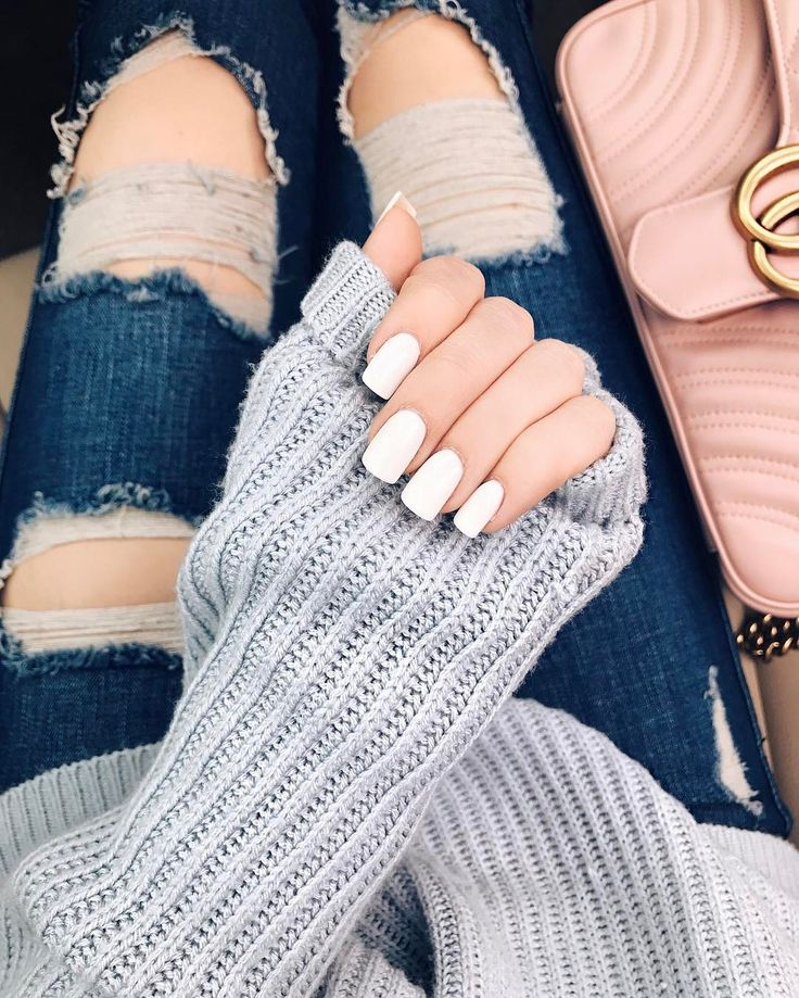 white nail polish inspiration and ideas DIY | girls and women | how to | tutorial | square shape | acrylic | gel polish| prom