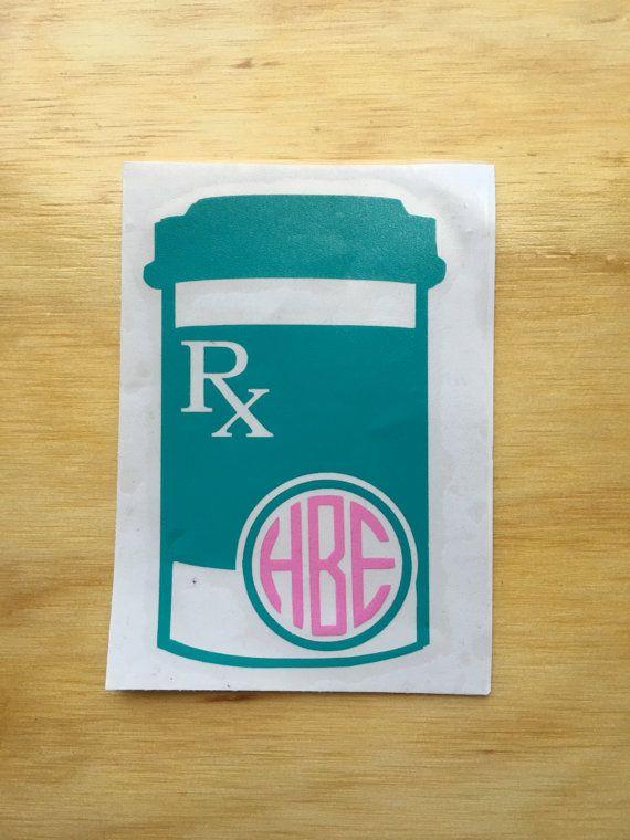 prescription bottle monogram pharmacist