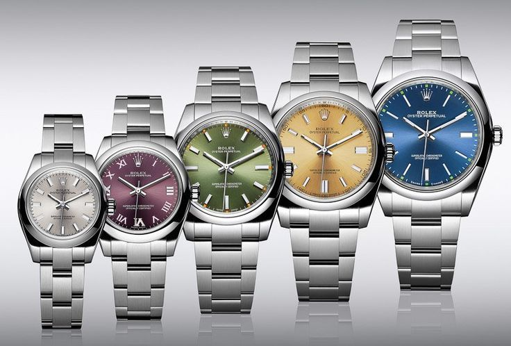 Rolex Oyster Perpetual watch range.