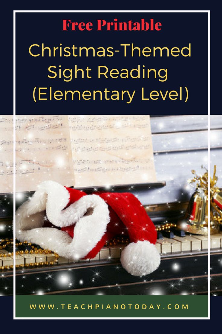 Free Christmas sight-reading pack for piano students. Learn to recognize intervals of a 3, 4 and 5 instantly!