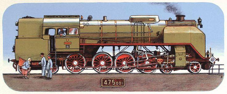Jiří Bouda - locomotive 475 class