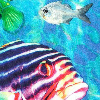 271342 Stretch jersey m digitalt print fisk