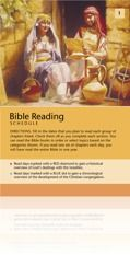 'BIBLE READING SCHEDULE' - Read the entire Holy Bible in just one year! This PDF brochure is easy to download and print so you can keep track of your progress. It also provides several suggestions for a personal daily Bible reading program to keep it interesting. Download it here in PDF!