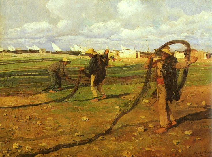 "Joaquín Sorolla ""Fishermen pull in the nets"", 1896"