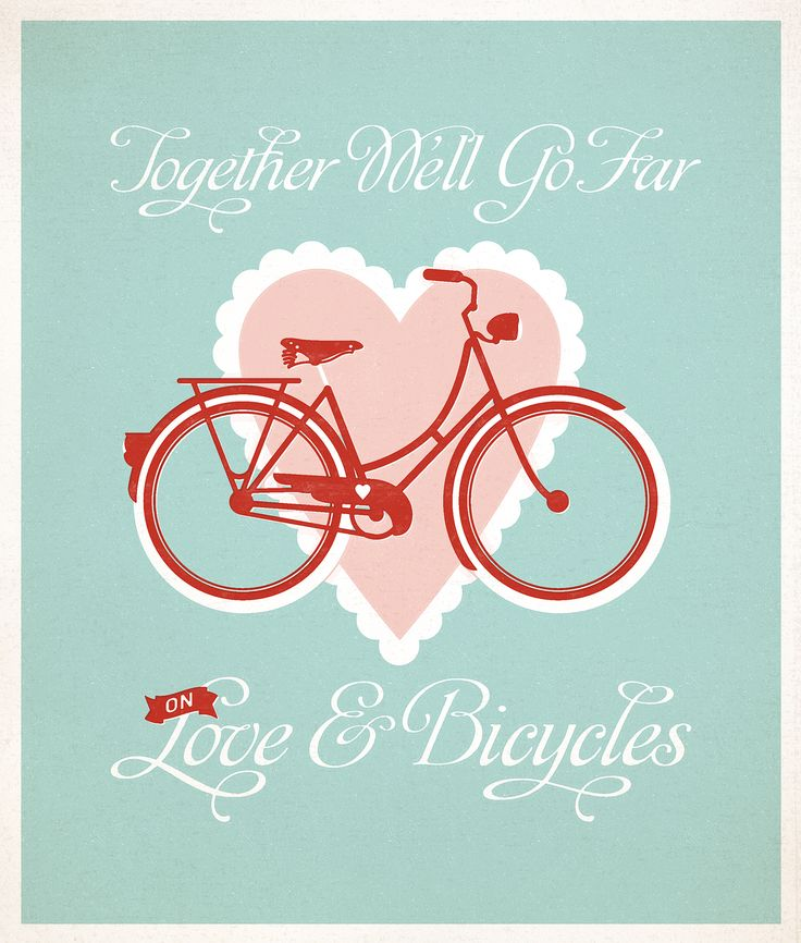 on <3 and bicycles
