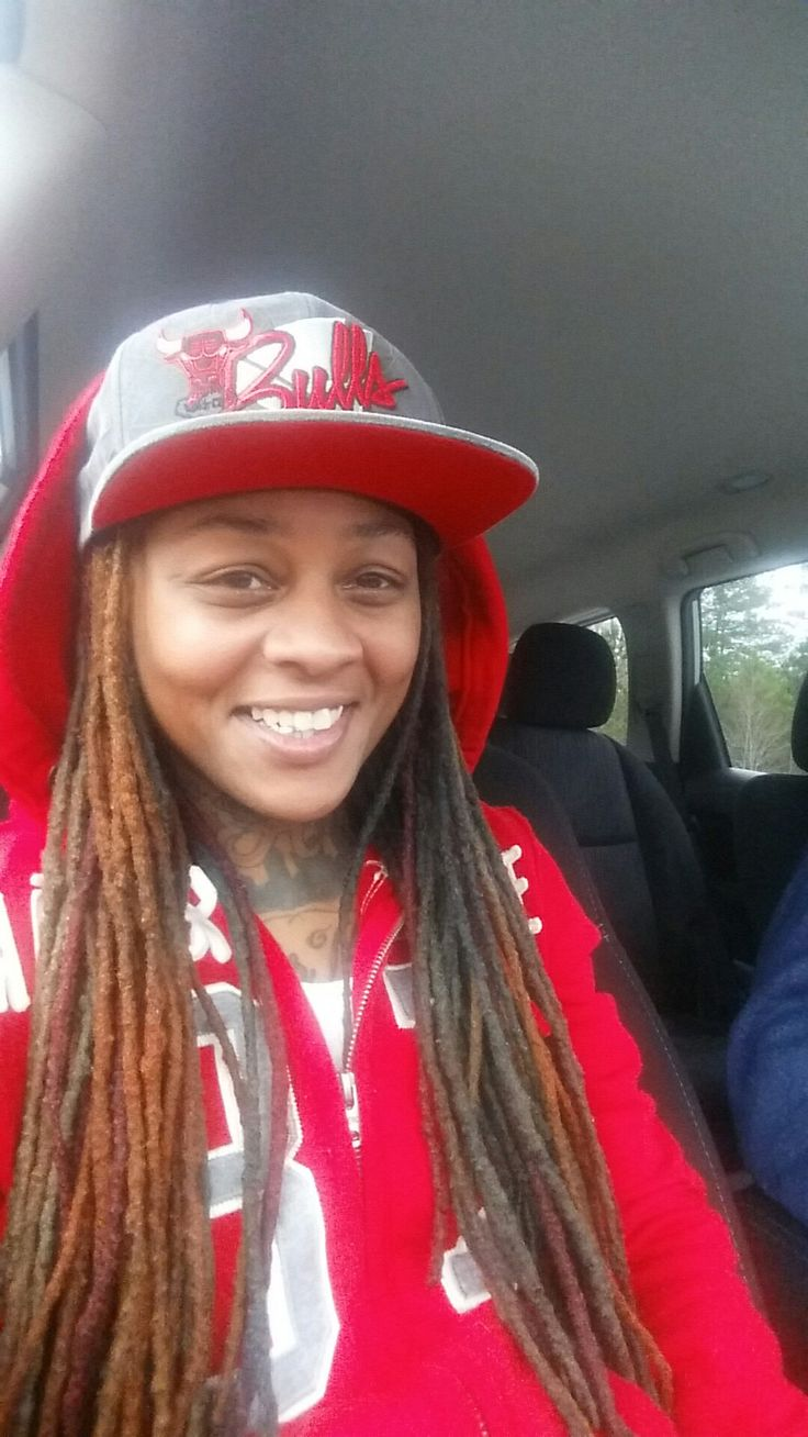 #Red #Bool #Dreads #Dreds #Natural #NaturalHair #LongHair #LongLocs #Atl #Stud #Lesbian #Women #Smile #DyedHair #ColorfulLocs #BlackWomen #ChicagoBulls #Tattoos