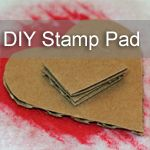 My kids love stamping, and can spend hours creating their masterpieces.  A few years ago I made re-usable stamp pads with my kids and it quickly became my go-to stamp pad.  I learned this little trick in art school and I have been using it ever since.  My favorite part is that these stamp pads
