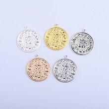 50 pcs 31mm En Alliage de Zinc or argent monnaies Antiques Charme Collier Pendentif DIY Bijoux De Mode Pour Femmes et Hommes(China (Mainland))