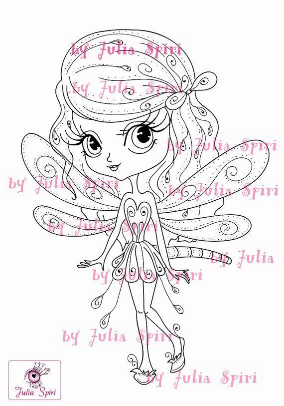 Digital Stamps Digi stamp Coloring pages Girl stamp by JuliaSpiri