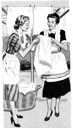 Discussing laundry day highlights......reépinglé par Maurie Daboux ✄❤                                                                                                                                                                                 More