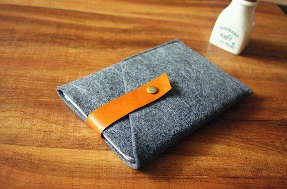Felt iPad Mini Case unique iPad Sleeve 100% by dodofelt on Etsy