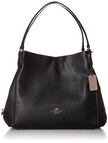 Brand: Coach Color: Li/black Features: - The style name / style number is Edie shoulder bag 31 / 36464-BLK - Color: Light Gold/Black - Material: Leather - Lining: Lined - Dimensions: 5.5 D in x 10 H i