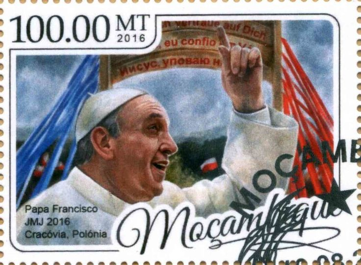 Stamp: Pope Francis (Mozambique) Col:MZ 2017-01b