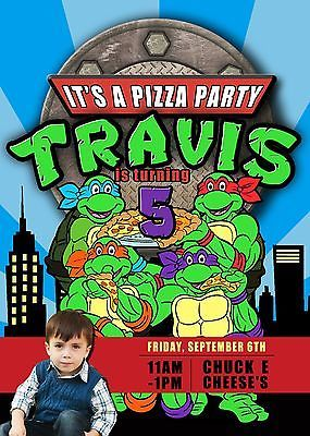 17 best images about tmnt on pinterest | birthday party, Party invitations