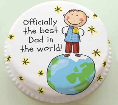 Personalised Cakes For All Occasions - Baker Days Personalised Official Best Dad in the World Father's Day Birthday Cake
