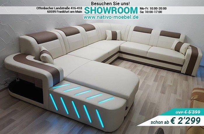 Erhaltlich In 6 Verschiedenen Materialien Und In Uber 30 Farben Space Xxl Mit Led Beleuchtung Jetzt Upcycled Furniture Luxury Furniture Furniture