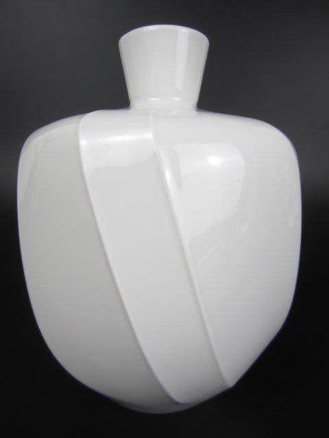 KPM Berlin  Porzellan Vase reinweiß Zeptermarke Form leicht eckig, verzogen TOP!