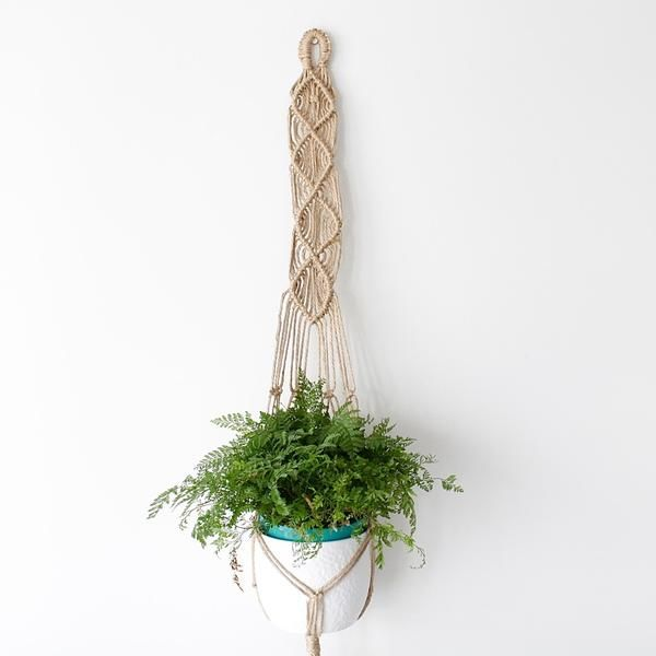 Natural, vintage and simple. Made with jute twine. Size: custom sizes or standard 120cm long