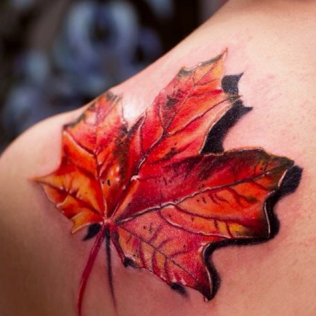 I wish I had the pain tolerance to get this for my daughter.  She was born at the end of November and I love fall and the maple tree is my favorite.
