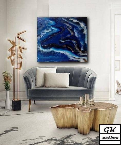 Original Resin Art Abstract PaintingWall Art Epoxy Resin