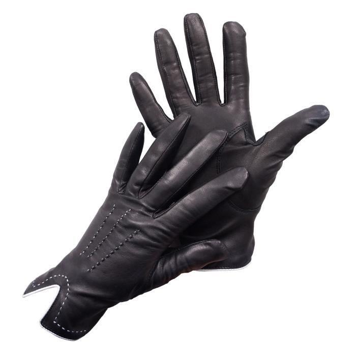 magasin en ligne choisir véritable Prix de gros 2019 gants femme peau,Gants cuir peau d u0027agneau lain茅e type ...