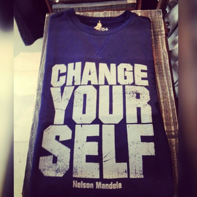 """""""To be an effective agent for peace, you have to seek not only to change the community and the world.What is more difficult is to CHANGE YOURSELF before you seek to change others."""" Nelson Mandela, 25 May, 2000"""