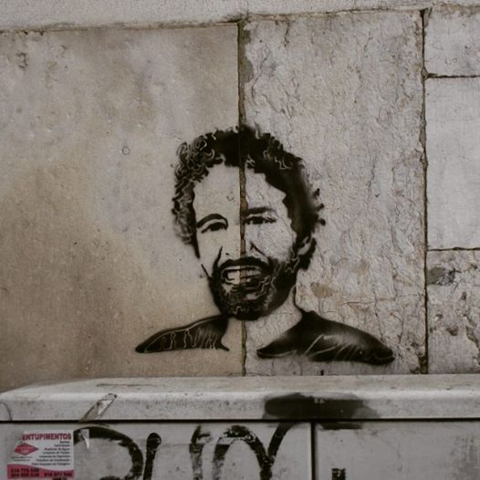 Street art - stencil-Alfama,Lisboa Tribute to Luaty Beirão(Angolan activist). Photo by:ED D'Oliveira
