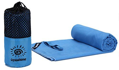 Crystalhome Fast Dry Towel Absorbent Ultra Compact Microfiber Sports Travel Bath Towels Quick Dry Fast Drying Towel Xl 32x50 Inches  Super Large Lightweight for Camping Yoga Beach Spa with Blue -- Click image for more details.